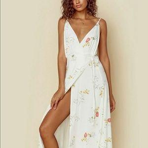 《Anthro • Capulet》Maxine Floral Wrap Maxi Dress